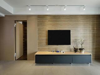 120㎡现代简约装修电视背景墙图片
