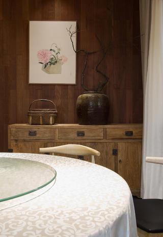 复古民宿装修餐边柜图片