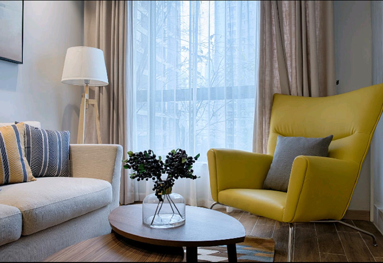 北欧公寓装修单人沙发图片