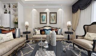 欧式三居室装修沙发背景墙图片