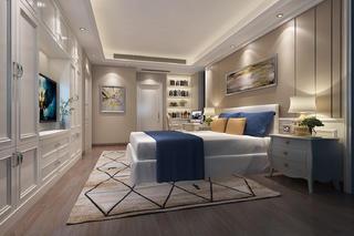 欧式三居室装修卧室效果图