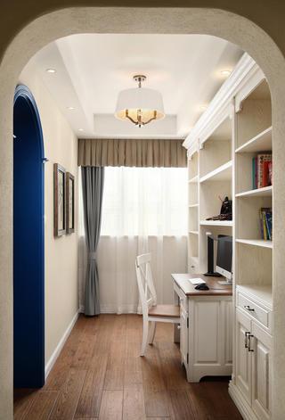 美式复式别墅装修书房效果图