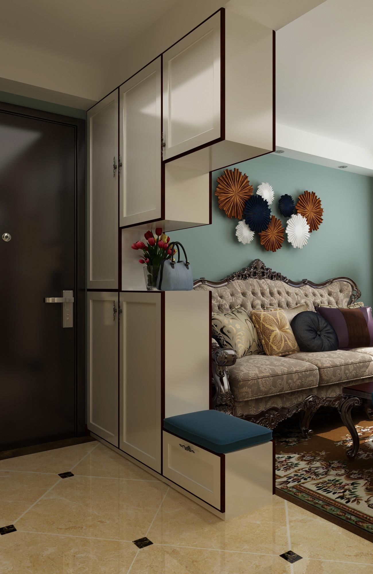 一居室美式之家玄关柜图片