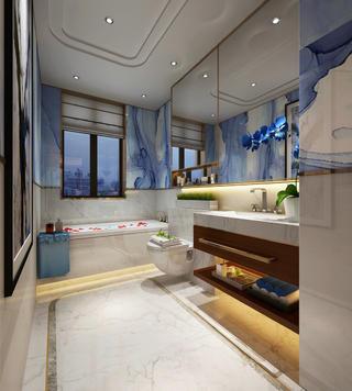 130平新中式卫生间设计图