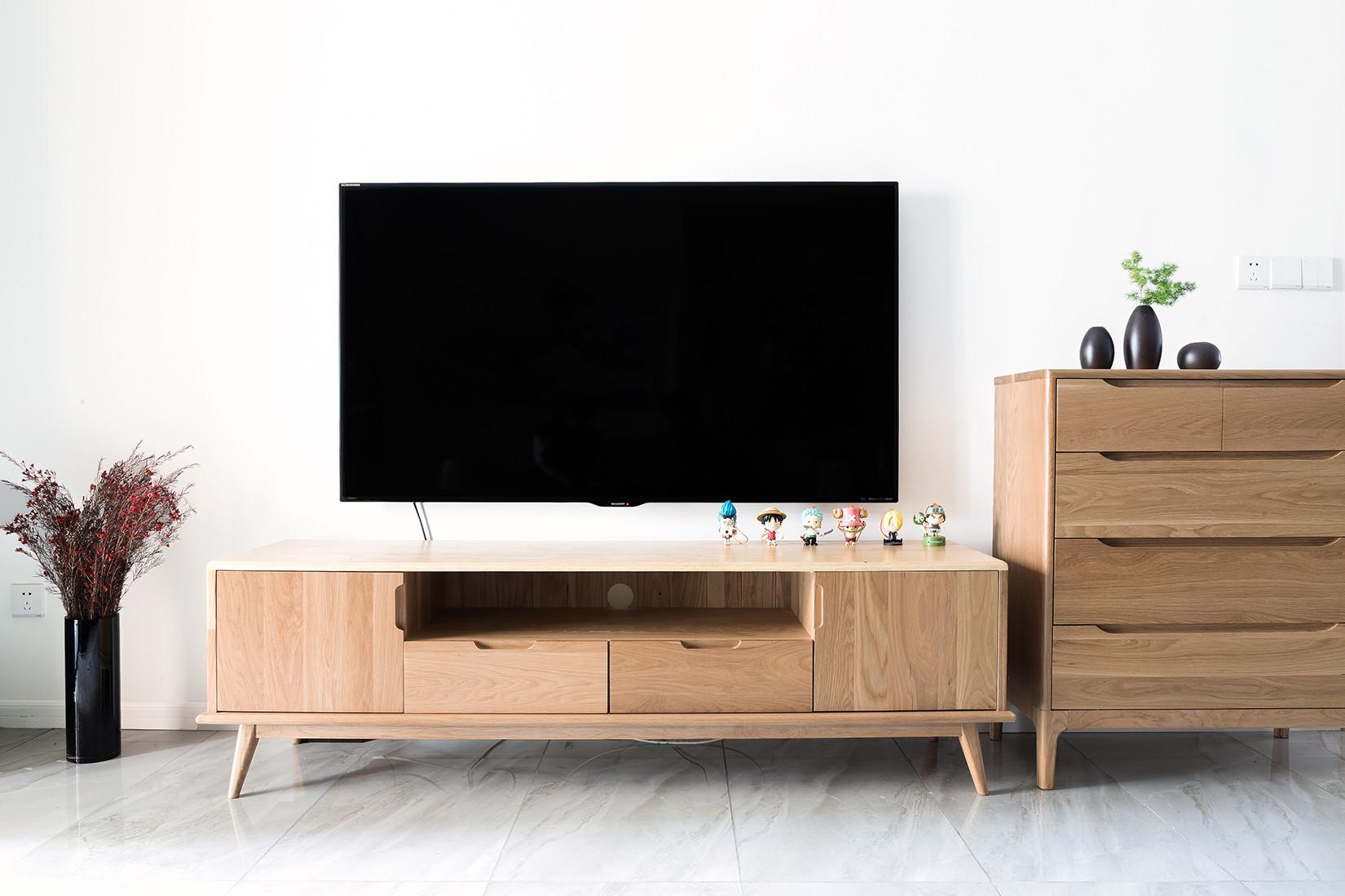 二居室日式风格家电视背景墙图片