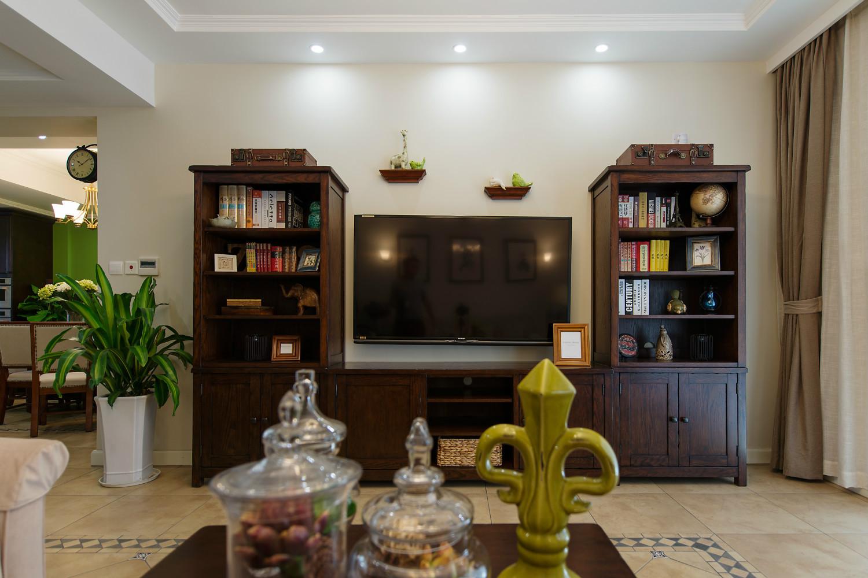 美式复式装修电视柜图片