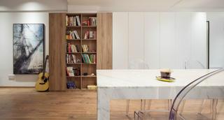 简洁北欧二居装修书柜图片