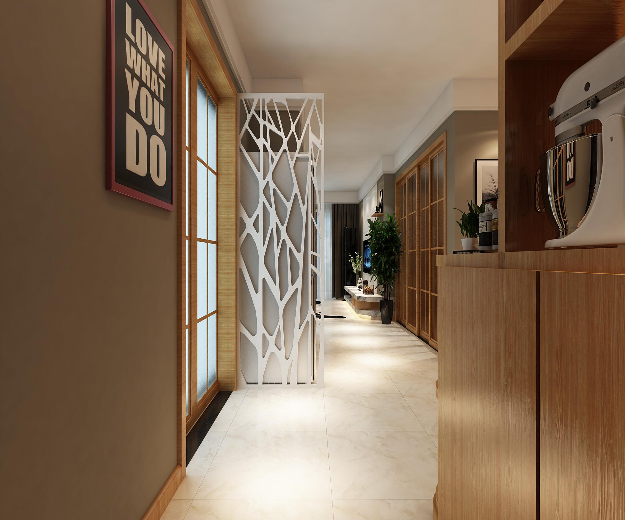现代简约三居装修玄关设计图
