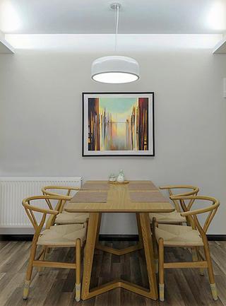 103平简约装修餐厅背景墙图片