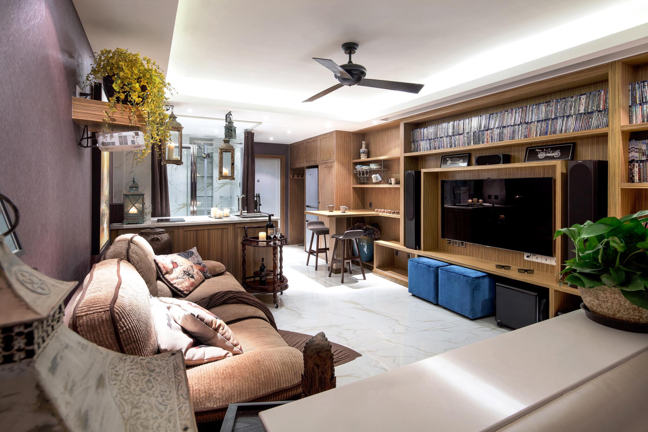 40平小户型装修电视背景墙设计