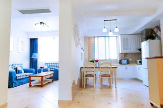 86平地中海風格家隔斷設計