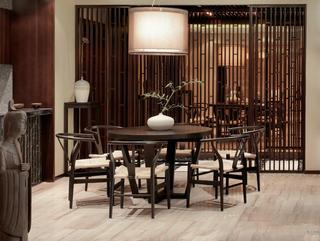 大户型新中式设计餐桌椅图片