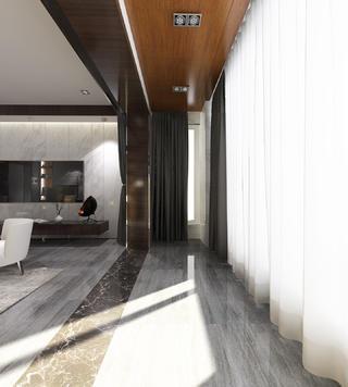 黑白灰调现代风格装修阳台设计图