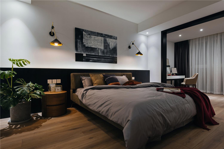 145㎡现代简约家卧室效果图