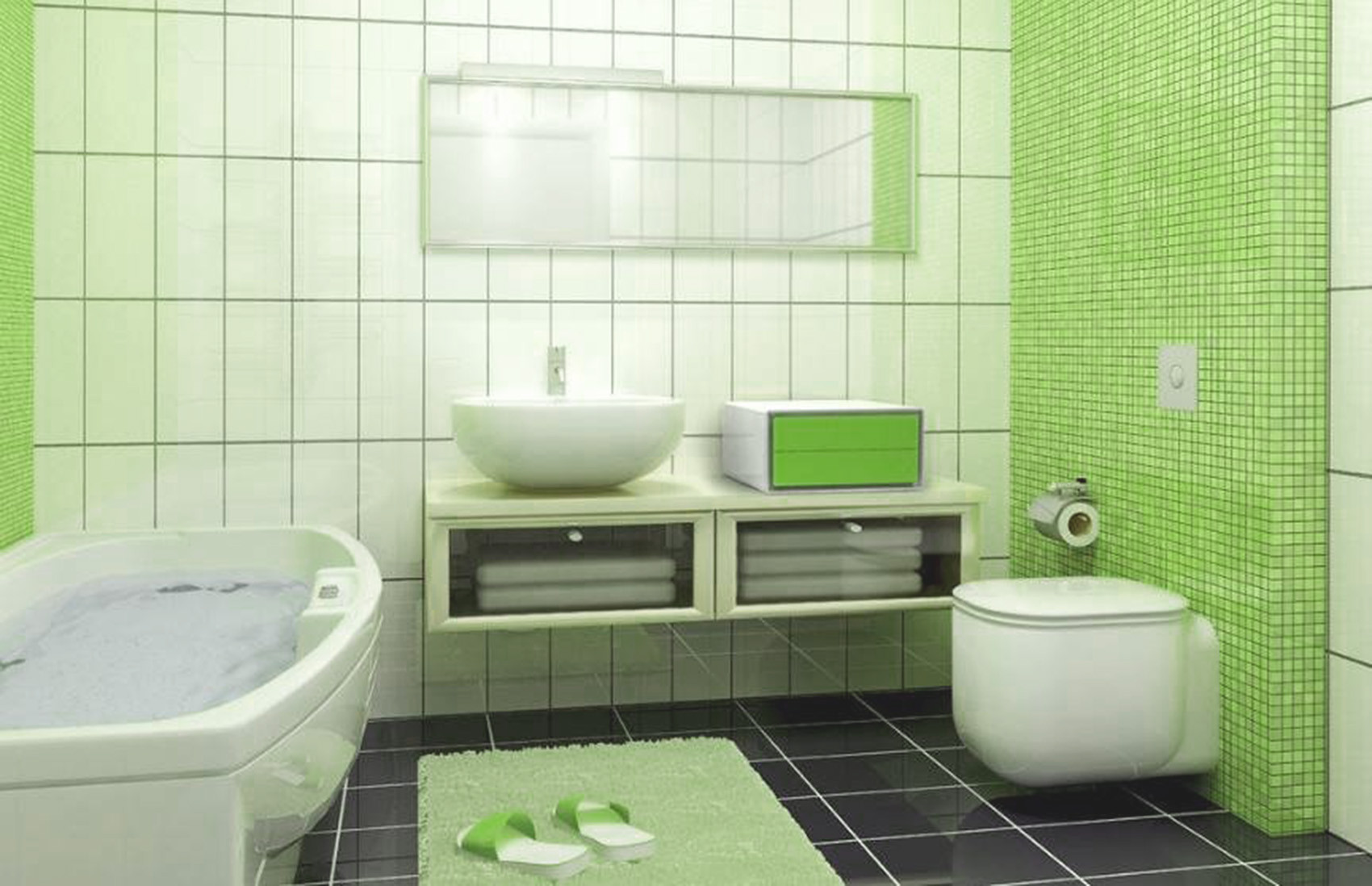 120平现代简约家卫生间效果图
