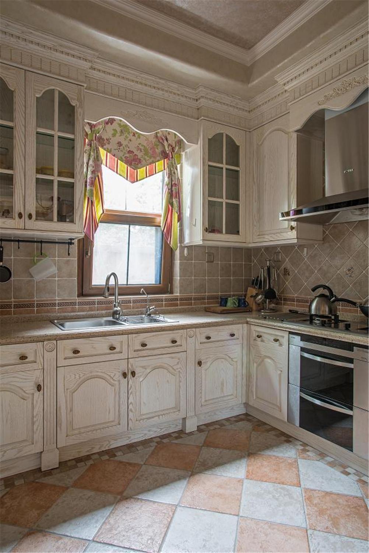 美式乡村别墅装修厨房效果图