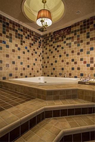 美式乡村别墅装修浴缸图片