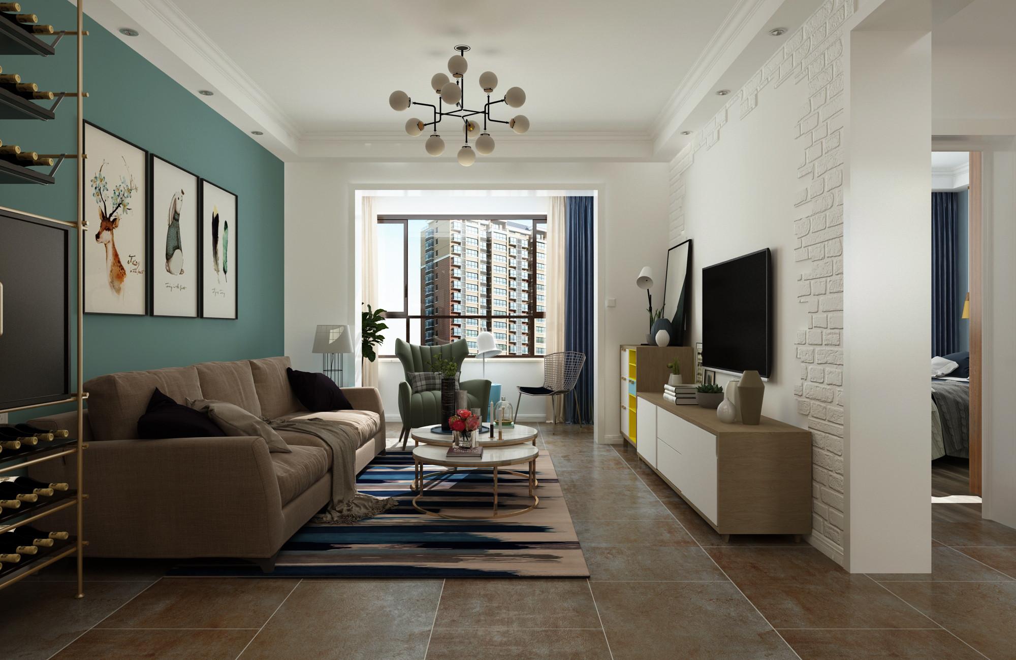 北欧二居室装修客厅设计效果图
