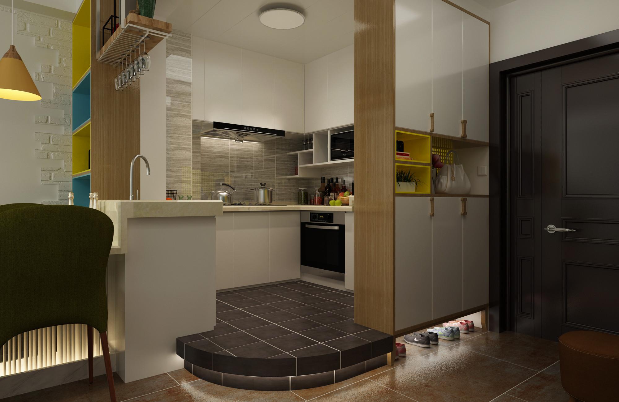 北欧二居室装修厨房设计图