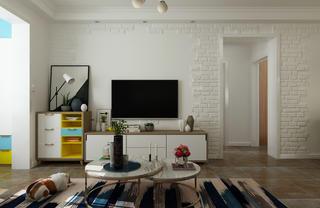 北欧二居室装修电视背景墙图片