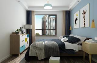 北欧二居室装修卧室设计图