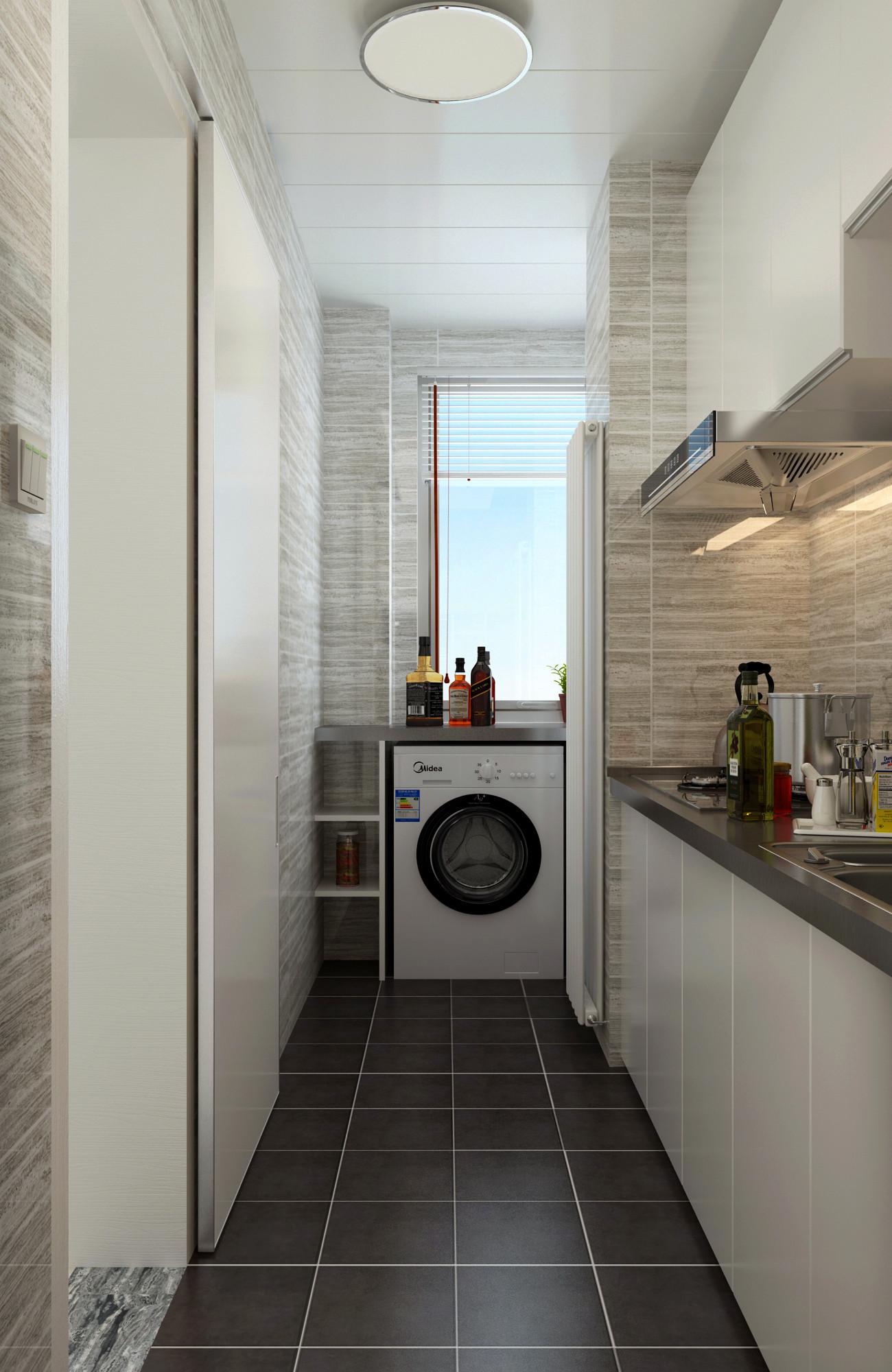 80㎡宜家风格设计厨房装潢图