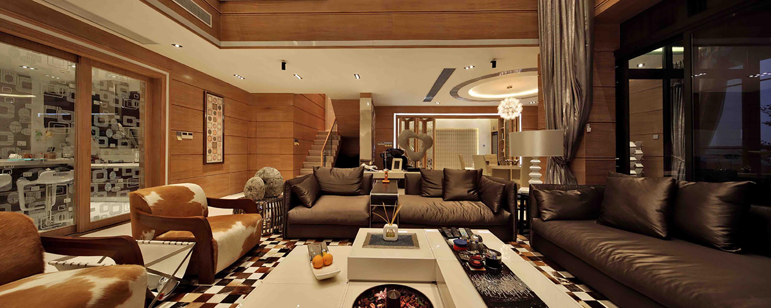 现代别墅装修沙发图片