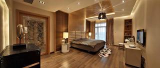 现代别墅装修卧室效果图