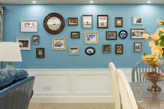 三居室美式之家照片墙