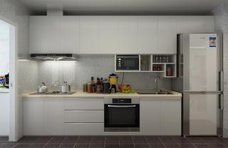120平現代簡約裝修櫥柜圖片