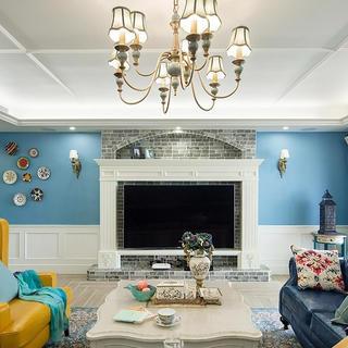 三居室美式之家 蓝色魅惑