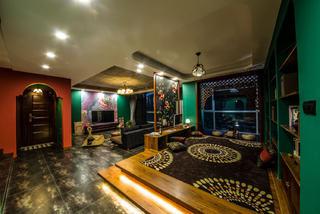 157平东南亚风格装修双层地台设计图