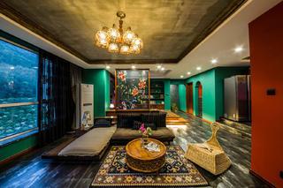 157平东南亚风格装修客厅效果图