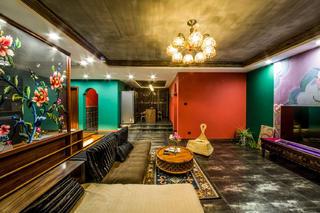 157平东南亚风格装修客厅吊顶图片