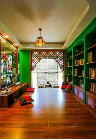 157平东南亚风格装修书房效果图