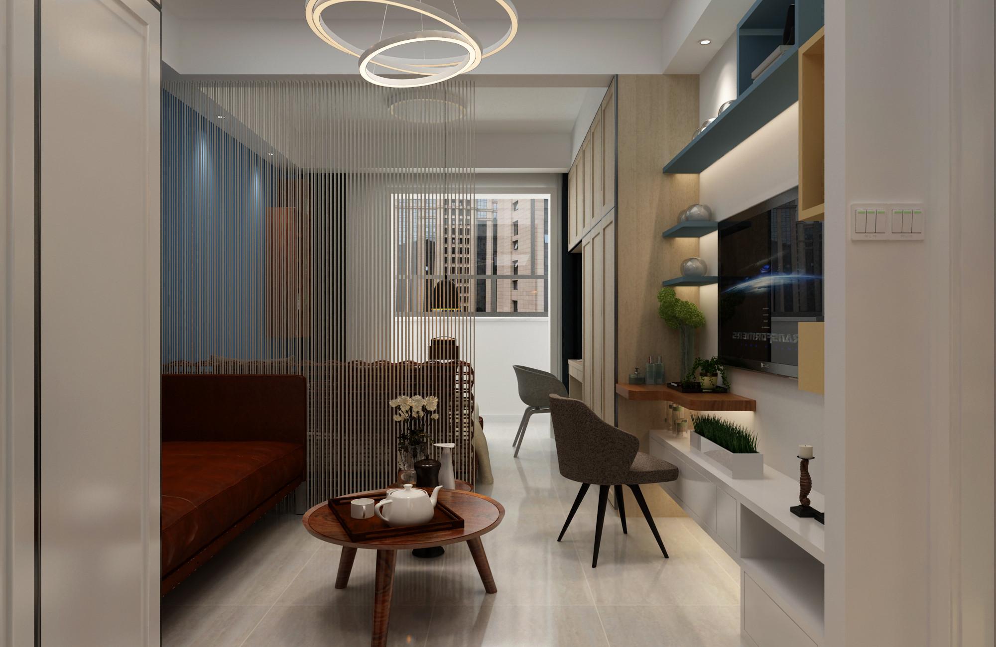一居室小户型装修客厅效果图