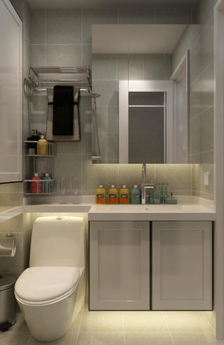 一居室小户型装修洗手台图片
