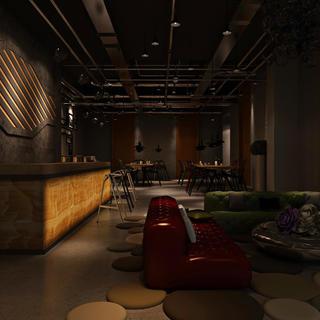 复古工业风酒吧365体育在线官网直营效果图