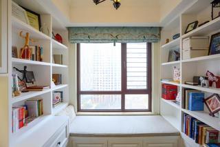 135平三居室装修书房布置图