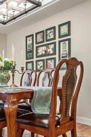 150平美式风格家餐厅背景墙图片