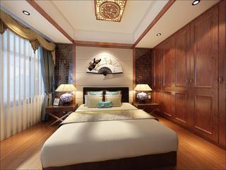 130㎡中式风格装修卧室效果图