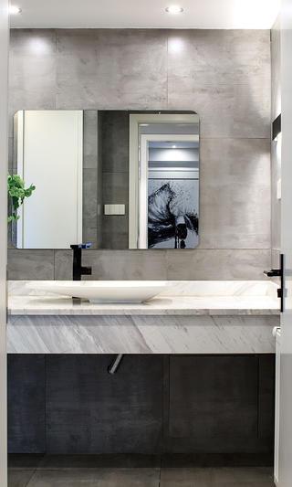 大户型现代极简装修洗手台图片