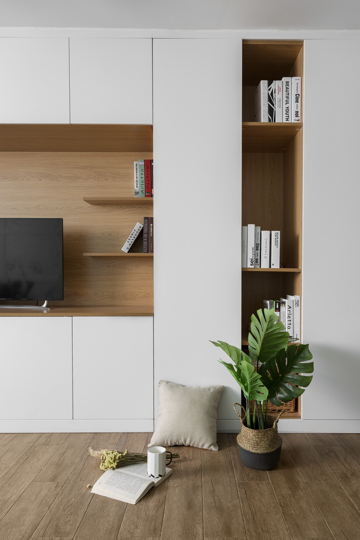 北欧复式装修电视柜图片