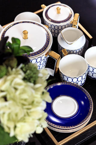 美式三居之家茶具特写