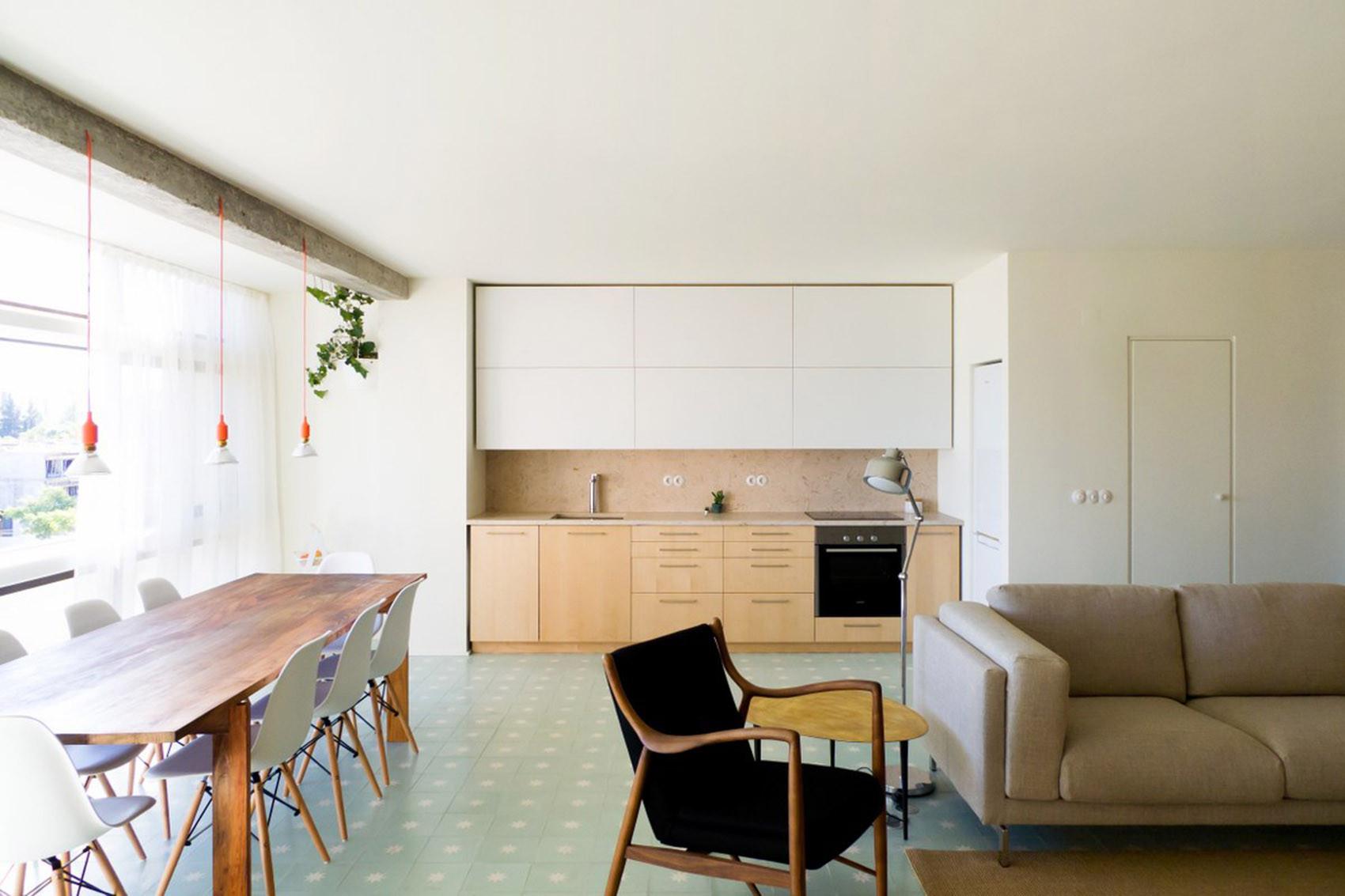 公寓简约装修厨餐厅效果图