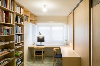 公寓简约装修书架图片