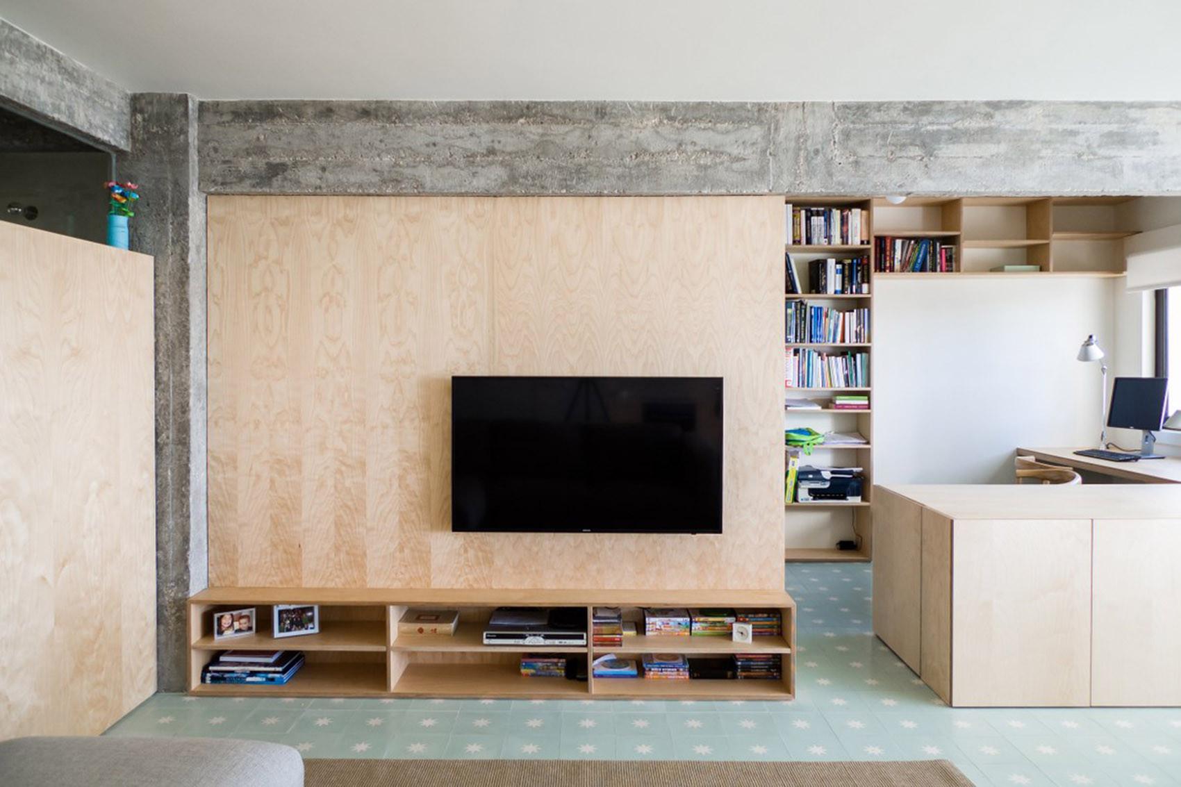 公寓简约装修电视背景墙图片