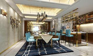 新古典別墅裝修餐廳效果圖