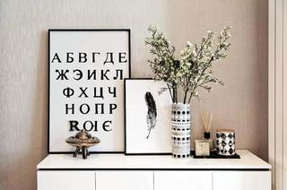 现代北欧风二居装修边柜装饰摆件