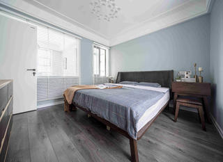 107㎡北欧风装修卧室布置图